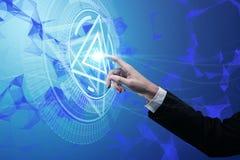 Ilustração do sistema do Cyber Fotografia de Stock