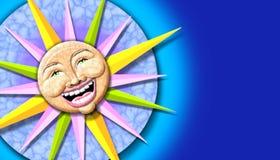 ilustração do sol ilustração stock