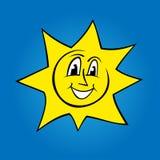 Ilustração do sol dos desenhos animados Fotos de Stock