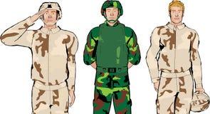 Ilustração do soldado Foto de Stock