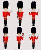 Ilustração do soldado da rainha Foto de Stock