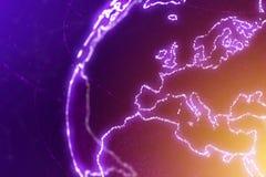 Ilustração do sumário do continente de Europa ilustração stock