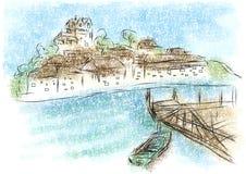 Ilustração do sumário de Salcombe ilustração do vetor