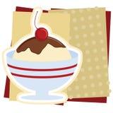 Ilustração do Sundae do gelado Imagens de Stock