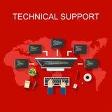 Ilustração do suporte laboral conceito do apoio ao cliente Imagem de Stock Royalty Free