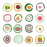 Ilustração do sushi Fotos de Stock