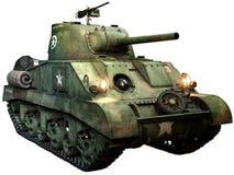 Ilustração do tanque 3D de Sherman Fotos de Stock Royalty Free