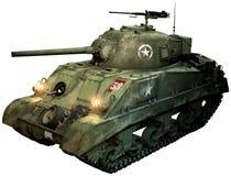 Ilustração do tanque 3D de Sherman Fotos de Stock