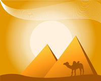 Ilustração do tema egípcio Foto de Stock