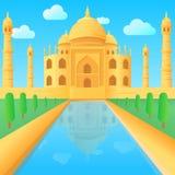Ilustração do templo de Taj Mahal na Índia Imagem de Stock