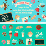 Ilustração do tempo do café Fotos de Stock Royalty Free
