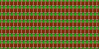 Ilustração do teste padrão da pele de porco do futebol com fundo verde Foto de Stock