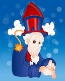 Ilustração do tio Sam engraçado Fotografia de Stock Royalty Free