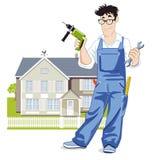 Ilustração do trabalhador manual Imagens de Stock