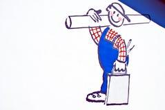 Ilustração do trabalhador manual Fotografia de Stock