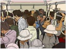 Ilustração do trem da periferia aglomerado ilustração stock