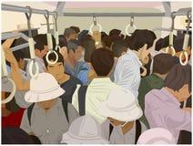 Ilustração do trem da periferia aglomerado na cor ilustração do vetor
