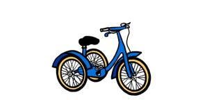 Ilustração do triciclo de criança Imagens de Stock Royalty Free