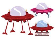Ilustração do UFO no vetor Imagens de Stock