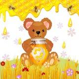 Ilustração do urso bonito Fotografia de Stock Royalty Free