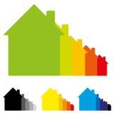 Ilustração do uso eficaz da energia do alojamento Imagem de Stock Royalty Free
