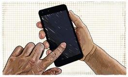 Ilustração do usuário de Smartphone ilustração do vetor