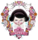 Ilustração do Valentim de WTF Foto de Stock Royalty Free