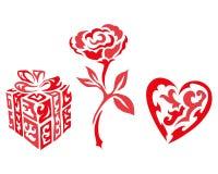 Ilustração do Valentim do presente Imagem de Stock Royalty Free