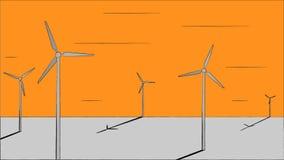 Ilustração do vento Fotografia de Stock