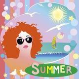 Ilustração do verão Fotos de Stock