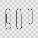 Ilustração do vetor do ícone do clipe de papel ilustração stock