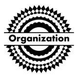 Ilustração do vetor do ícone do crachá do preto da organização ilustração do vetor