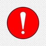 Ilustração do vetor do ícone da exclamação Fotos de Stock Royalty Free