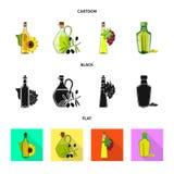Ilustração do vetor do ícone saudável e vegetal Ajuste do símbolo de ações saudável e da agricultura para a Web ilustração royalty free