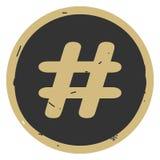 Ilustração do vetor do ícone do sinal de Hashtag no fundo cinzento ilustração do vetor
