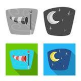 Ilustração do vetor do ícone do tempo e do clima Grupo de símbolo de ações do tempo e da nuvem para a Web ilustração do vetor