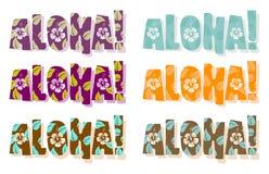 Ilustração do vetor aloha da palavra ilustração royalty free