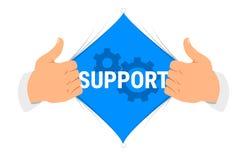 Ilustração do vetor do ` do apoio do ` da camisa da abertura Imagem de Stock