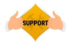 Ilustração do vetor do ` do apoio do ` da camisa da abertura Fotos de Stock