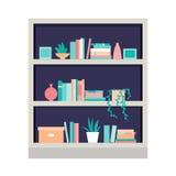 Ilustração do vetor bookcase Imagens de Stock Royalty Free