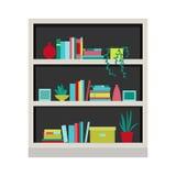 Ilustração do vetor bookcase Fotografia de Stock