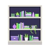 Ilustração do vetor bookcase Fotos de Stock Royalty Free