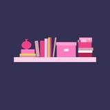 Ilustração do vetor bookshelf Imagem de Stock