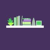 Ilustração do vetor bookshelf Fotografia de Stock