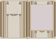 Ilustração do vetor Brochura do molde no estilo do vintage Imagem de Stock Royalty Free