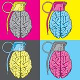 Ilustração do vetor do cérebro da granada Fotografia de Stock