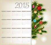 Ilustração do vetor Calendário do ano 2015 novo Imagem de Stock Royalty Free