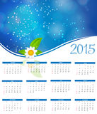 Ilustração do vetor Calendário do ano 2015 novo Imagem de Stock