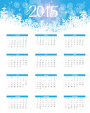 Ilustração do vetor Calendário do ano 2015 novo Imagens de Stock Royalty Free