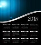 Ilustração do vetor Calendário do ano 2015 novo Imagens de Stock